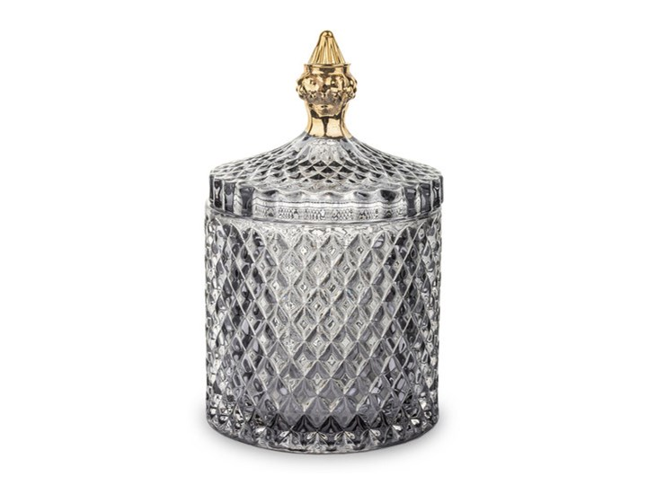 Pojemnik szklany Bonbon szary mały