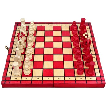 Szachy Kadet 30 cm - Czerwone
