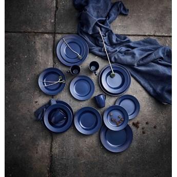 zastawa stołowa na 12 osób niebieska Groovy Stoneware blue AIDA DENMARK