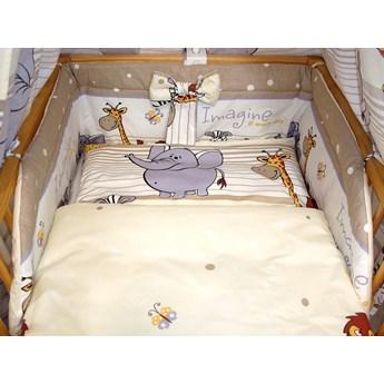 Safari brązowe - Bawełniana atestowana pościel dla dzieci do łóżeczka