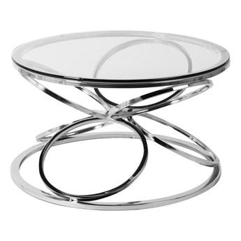 Stolik okrągły szklany  / srebro FUTUR GLAMUR