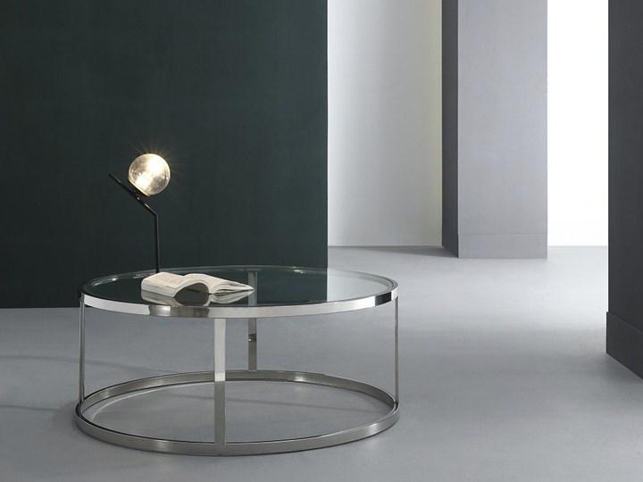 Stolik okrągły szklany  / srebro Firro GLAMUR Stal Szkło Wysokość 40 cm Kategoria Stoliki i ławy