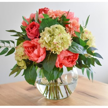Kompozycja z Kwiatów - Koralowa
