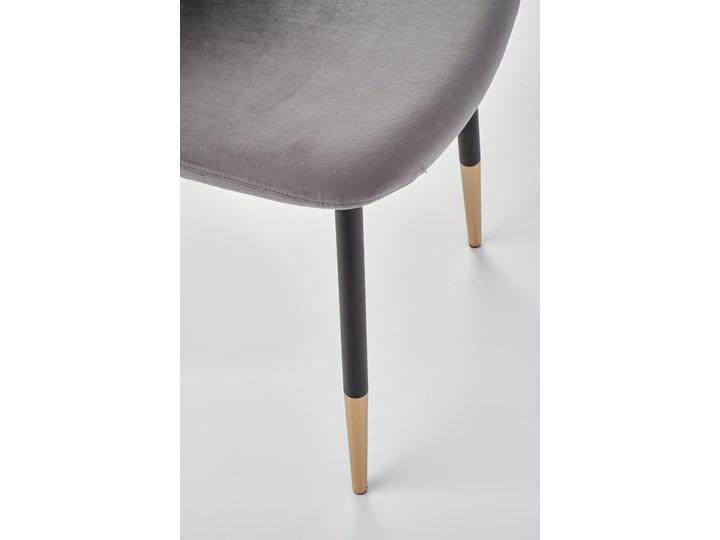 Krzesło K379 VELVET szare HALMAR Tworzywo sztuczne Drewno Stal Głębokość 48 cm Tapicerowane Welur Tkanina Wysokość 88 cm Metal Szerokość 45 cm Styl Rustykalny