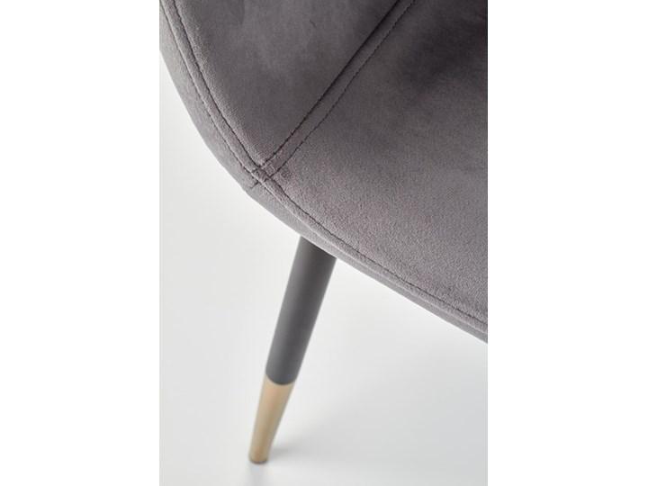 Krzesło K379 VELVET szare HALMAR Stal Metal Głębokość 48 cm Welur Tworzywo sztuczne Drewno Tkanina Wysokość 88 cm Kolor Szary Tapicerowane Szerokość 45 cm Styl Rustykalny