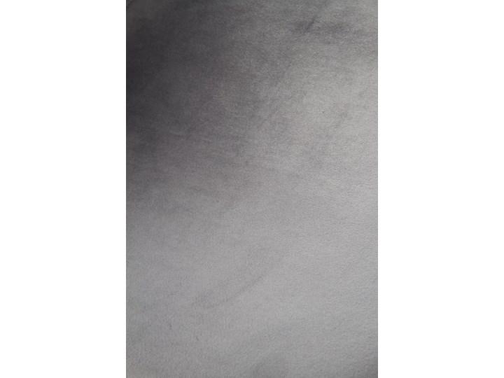 Krzesło K379 VELVET szare HALMAR Drewno Tapicerowane Tkanina Kolor Szary Metal Głębokość 48 cm Wysokość 88 cm Tworzywo sztuczne Szerokość 45 cm Stal Welur Styl Rustykalny