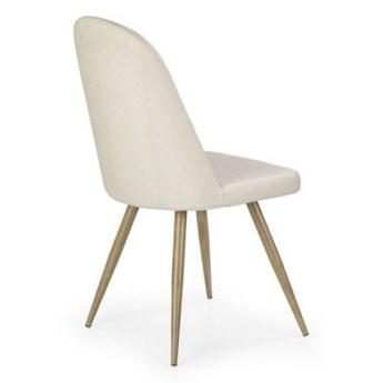 Krzesło K214 ciemny kremowy/dąb miodowy HALMAR