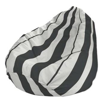 Worek do siedzenia, pasy czarno-białe, Ø50 × 85 cm, Comics