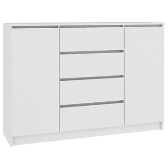 Biała komoda z szufladami 140 cm - Intia 5X