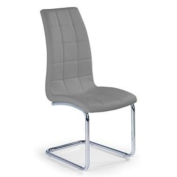 Stylowe krzesło pikowane Anthony - Popielaty