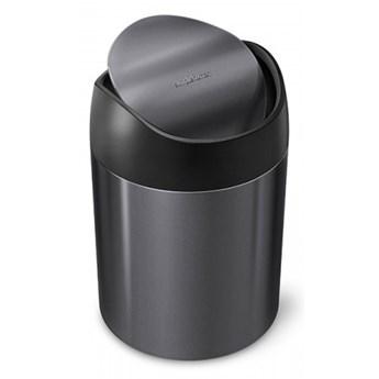 Kosz na toaletkę uchylny 1,5L - czarny / simplehuman kod: CW2078