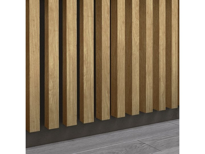 Dąb Naturalny Santana - Lamele Premium 3D - Panele ozdobne ścienne akustyczne pionowe - uniwersalny - LM014 - Dąb Naturalny Santana