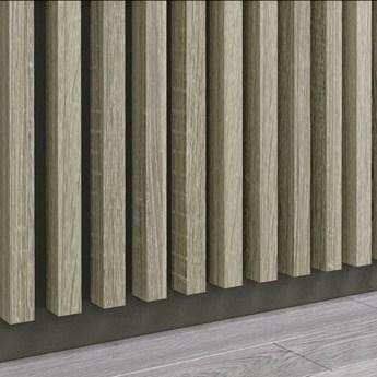 Grafit Capri - Lamele Premium 3D - Panele ozdobne ścienne akustyczne pionowe - uniwersalny  - LM002 - Grafit Capri