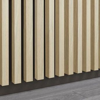 Dąb Naturalny Royal - Lamele Premium 3D - Panele ozdobne ścienne akustyczne pionowe - uniwersalny  - LM017 - Dąb Naturalny Royal