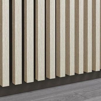 Dąb Naturalny Bielony - Lamele Premium 3D - Panele ozdobne ścienne akustyczne pionowe - uniwersalny  - LM018 - Dąb Naturalny Bielony