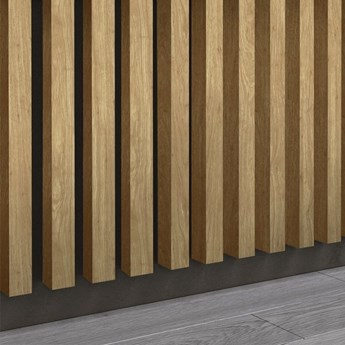 Lamele Premium 3D - Panele ozdobne - 240 cm - uniwersalny  - LM014 - Dąb Naturalny Santana