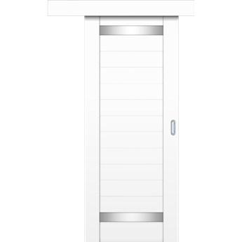 Drzwi Przesuwne SECRET - 90 cm Lewe  - Biel Capri