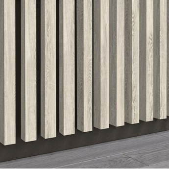 Wiąz Perłowy - Lamele Premium 3D - Panele ozdobne ścienne akustyczne pionowe - uniwersalny  - LM011 - Wiąz Perłowy