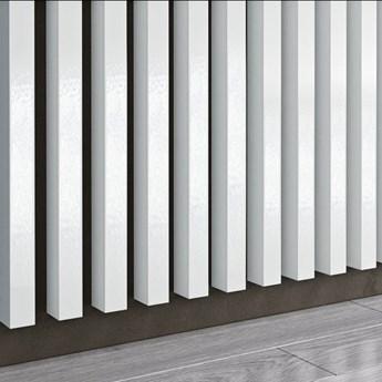Biel Capri Wysoki Połysk - Lamele Premium 3D - Panele ozdobne ścienne akustyczne pionowe - uniwersalny  - LM009 - Biel Capri Wysoki Połysk