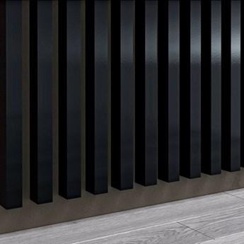 Czarny Wysoki Połysk - Lamele Premium 3D - Panele ozdobne ścienne akustyczne pionowe - uniwersalny  - LM007 - Czarny Wysoki Połysk