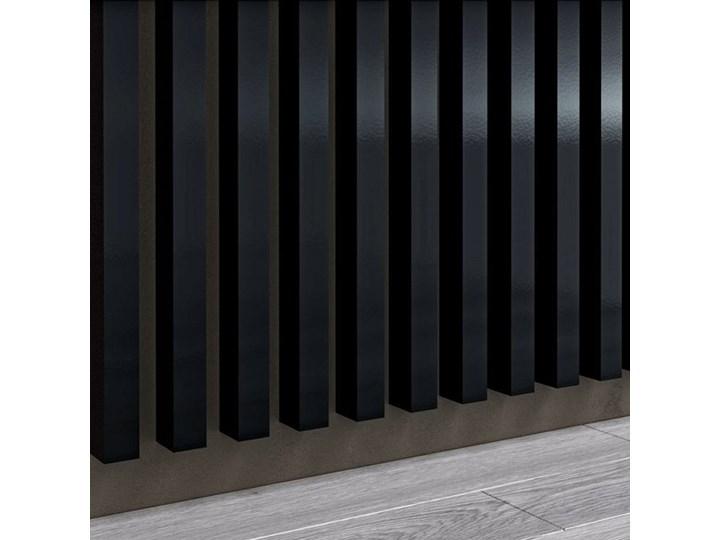 Czarny Wysoki Połysk - Lamele Premium 3D - Panele ozdobne ścienne akustyczne pionowe - uniwersalny ...