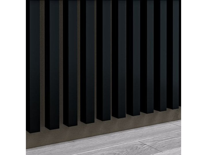 Czarny - Lamele Premium 3D - Panele ozdobne ścienne akustyczne pionowe - uniwersalny - LM006 - Czarny