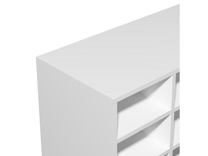 vidaXL Szafka na buty, płyta wiórowa, 92x30x67,5 cm, biała Kolor Biały Płyta laminowana Płyta meblowa Płyta MDF Kategoria Szafki i regały