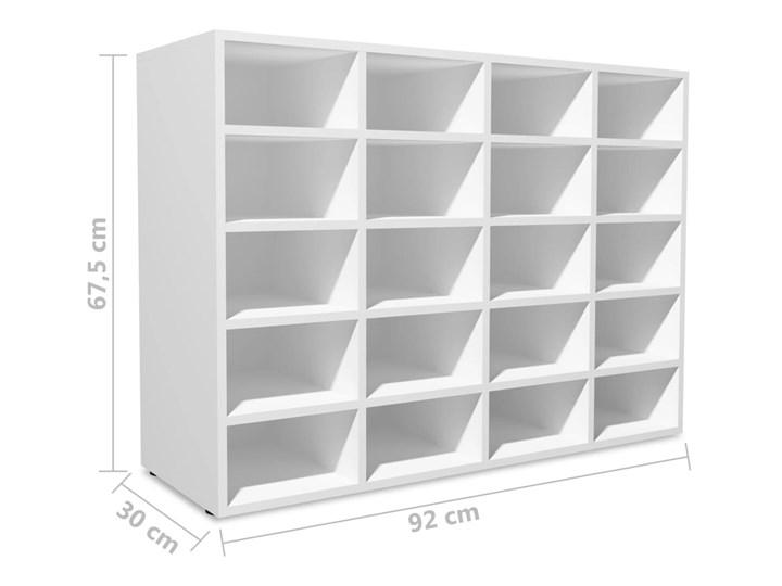 vidaXL Szafka na buty, płyta wiórowa, 92x30x67,5 cm, biała Płyta meblowa Płyta MDF Płyta laminowana Kolor Biały Kategoria Szafki i regały