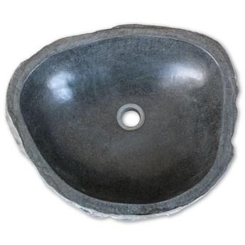 vidaXL Umywalka z kamienia rzecznego, owalna, 46-52 cm