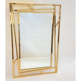 Lustro prostokątne metalowe złote ZEGNA 60x1x90cm