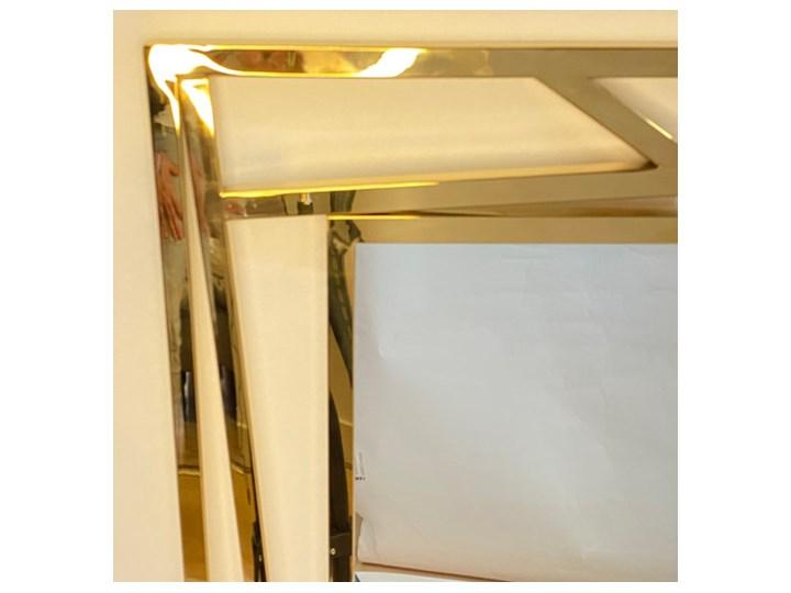 Lustro prostokątne metalowe złote ZEGNA 60x1x90cm Lustro z ramą Ścienne Kolor Złoty Styl Nowoczesny