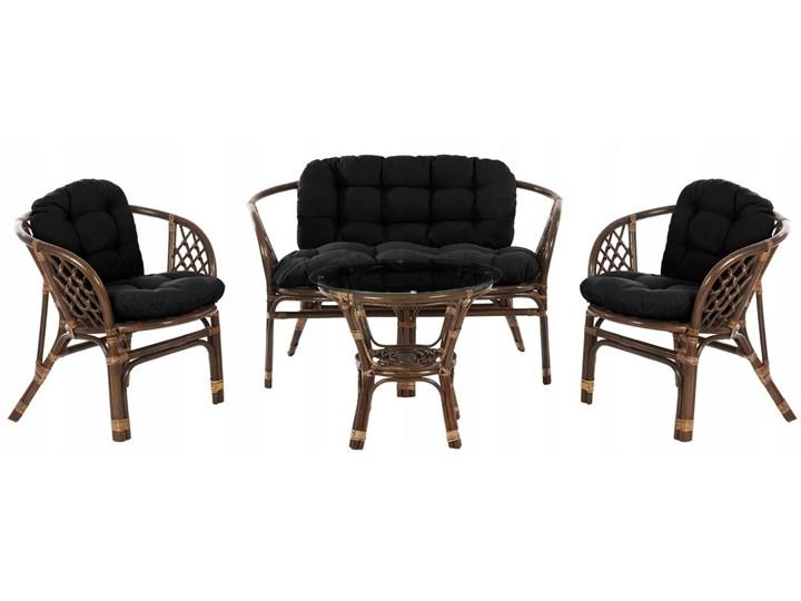 Zestaw mebli rattanowych Bahama Brązowy kwiaty Stoły z krzesłami Tworzywo sztuczne Zawartość zestawu Sofa