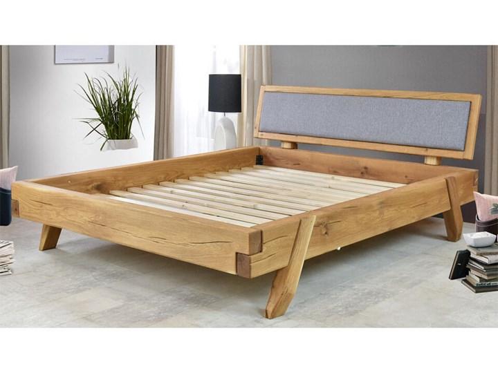 Łóżko dębowe z tapicerowanym wezgłowiem Natural 15 160x200 Łóżko tapicerowane Łóżko drewniane Kategoria Łóżka do sypialni