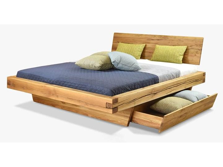 Łóżko drewniane dębowe Natural 3 180x200 Rozmiar materaca 180x200 cm Kategoria Łóżka do sypialni