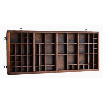 Półka drewniana z recyklingu