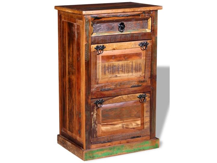 vidaXL Szafka na buty, 4-półki i szuflada, solidne drewno z odzysku Pomieszczenie Salon