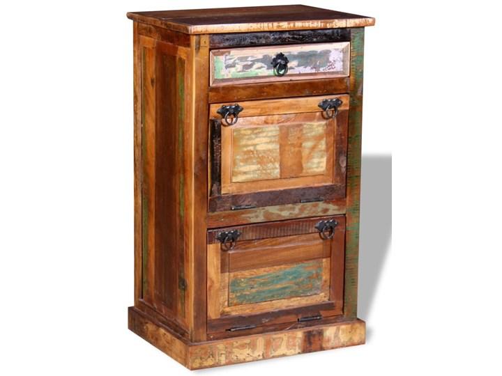 vidaXL Szafka na buty, 4-półki i szuflada, solidne drewno z odzysku Pomieszczenie Salon Styl Vintage