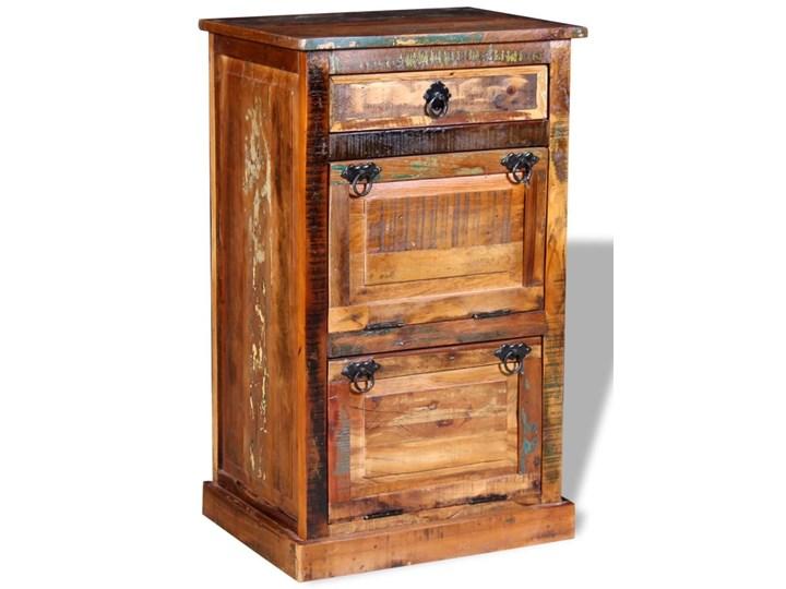 vidaXL Szafka na buty, 4-półki i szuflada, solidne drewno z odzysku Pomieszczenie Sypialnia Pomieszczenie Przedpokój