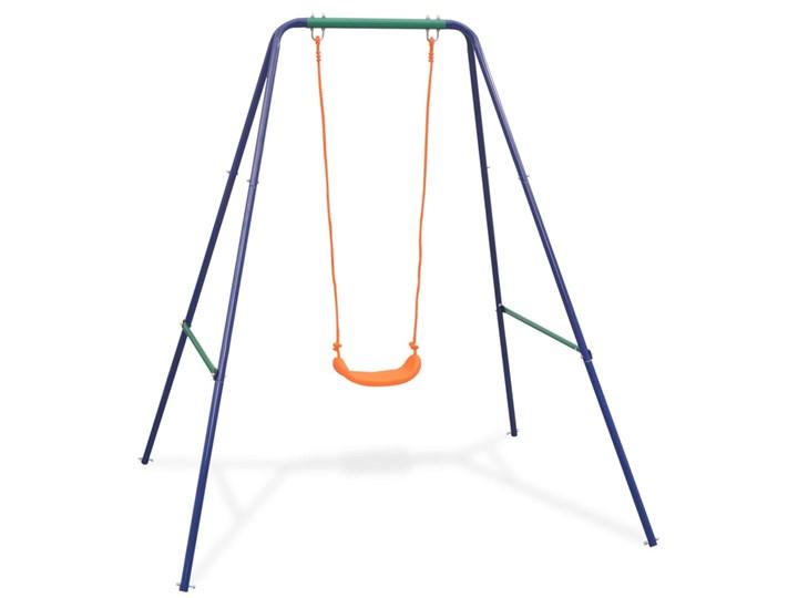 vidaXL Huśtawka pojedyncza i kubełkowa, zestaw 2w1, pomarańcz Tworzywo sztuczne Metal Kategoria Huśtawki dla dzieci