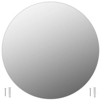 vidaXL Lustro ścienne, 70 cm, okrągłe, szklane