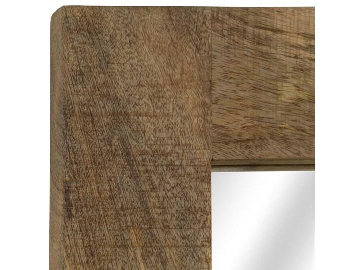 vidaXL Lustro z ramą z litego drewna mango, 50 x 110 cm Ścienne Prostokątne Styl Vintage