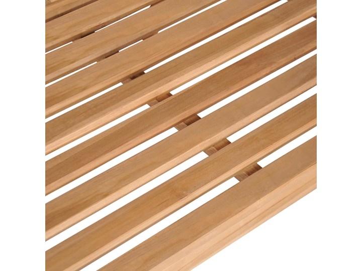 vidaXL Huśtawka ogrodowa, lite drewno tekowe, 120x60x57,5 cm, brązowa Kolor Beżowy Kolor Brązowy
