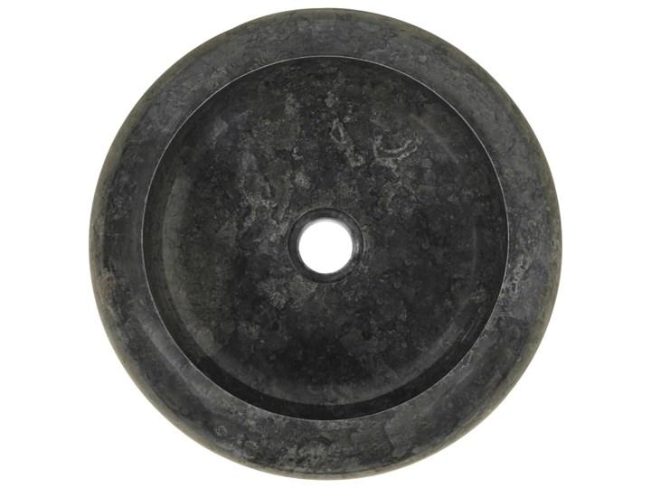 vidaXL Umywalka, 40 x 12 cm, marmurowa, czarna Kamień naturalny Kolor Czarny Okrągłe Szerokość 40 cm Kategoria Umywalki