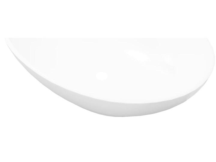vidaXL Luksusowa ceramiczna umywalka, owalna, biała, 40 x 33 cm Szerokość 40 cm Ceramika Owalne Kolor Biały