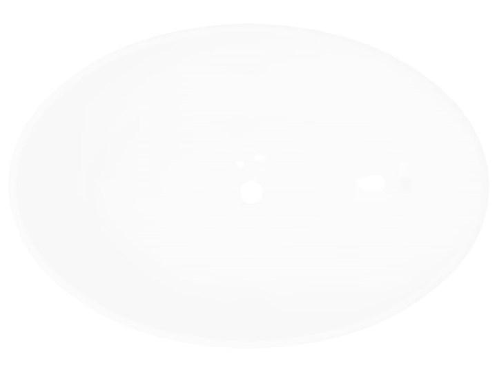 vidaXL Luksusowa ceramiczna umywalka, owalna, biała, 40 x 33 cm Szerokość 40 cm Owalne Ceramika Kolor Biały