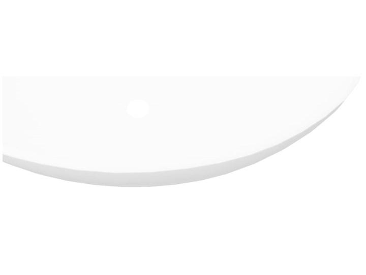 vidaXL Luksusowa ceramiczna umywalka, owalna, biała, 40 x 33 cm Owalne Szerokość 40 cm Ceramika Kolor Biały
