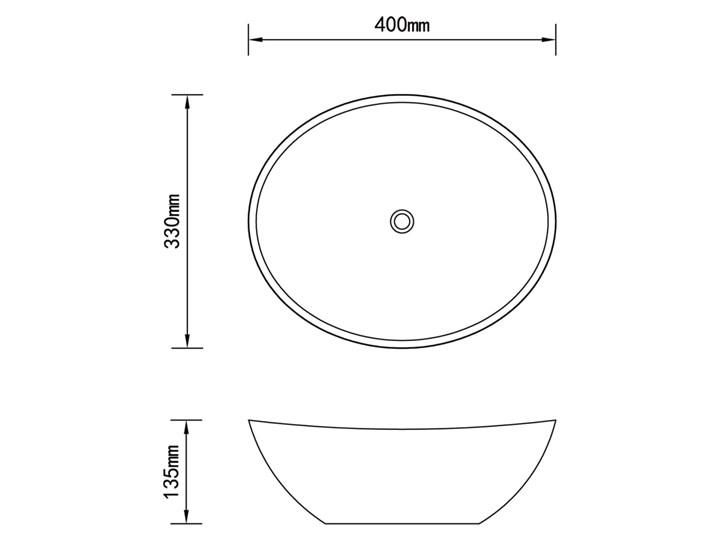 vidaXL Luksusowa ceramiczna umywalka, owalna, biała, 40 x 33 cm Szerokość 40 cm Kolor Biały Owalne Ceramika Kategoria Umywalki