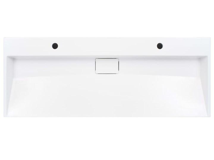 vidaXL Umywalka, 120x46x11 cm, kompozyt mineralny/marmurowy, biała Szerokość 120 cm Kolor Biały