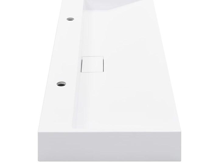 vidaXL Umywalka, 120x46x11 cm, kompozyt mineralny/marmurowy, biała Szerokość 120 cm Kolor Biały Kategoria Umywalki