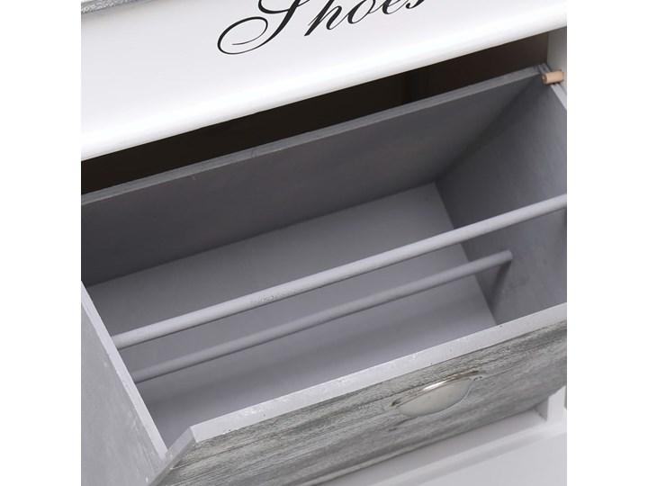 vidaXL Szafka na buty, szara, 50 x 28 x 58 cm, drewno paulownia Pomieszczenie Przedpokój